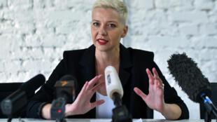 زعيمة الاحتجاجات في روسيا البيضاء ماريا كوليسنيكوفا