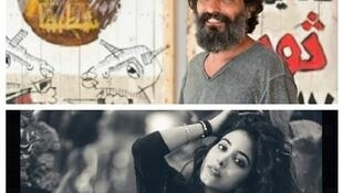 الرسام اللبناني سليم معوض و الممثلة الفلسطينية سمر قبطي