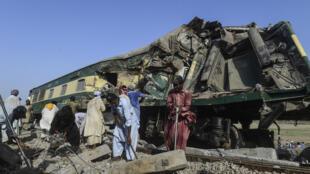 حادث قطار في باكستان