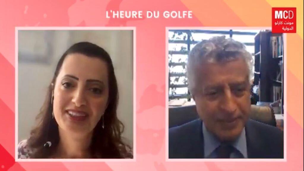 مدير معهد العالم العربي د.معجب الزهراني وإيمان الحمود