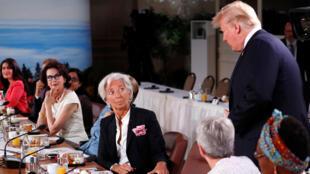 / الرئيس الأميركي دونالد ترامب في قمة g7
