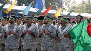 خلال عرض عسكري للباسيج في العاصمة الإيرانية