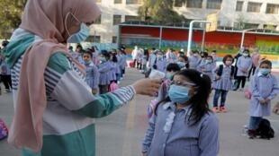 فرض الكمامات في المدارس الفلسطينية