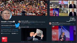 حساب دونالد ترامي على تويتر