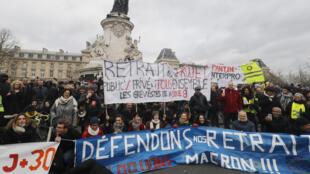 تواصل الاحتجاجات في فرنسا ضد نظام التقاعد الجديد