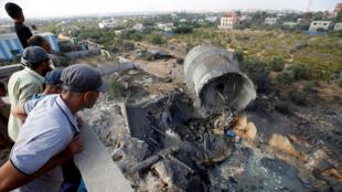 آثار غارة إسرائيلية