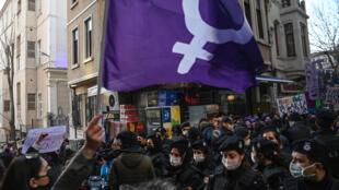 مظاهرات النساء في تركيا