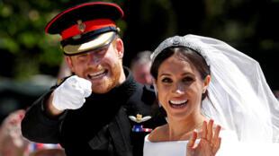 ميغان ماركل وزوجها الأمير هاري في بريطانيا