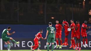 مشهد من مباراة الأهلي السعودي أمام الدحيل القطري يوم 18 أبريل 2021