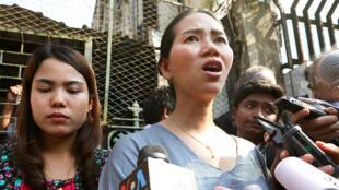 إحد الصحافيات المعتقلات في بورما