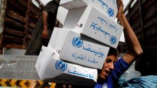 مساعدات منظمة اليونيسيف