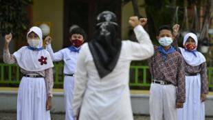 في إحدى المدارس في إندونيسيا