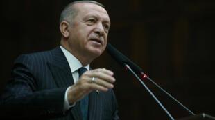 الرئيس التركي رجب الطيب إردوغان