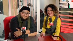 الفنان أبو غابي رفقة الإعلامية عبير نصراوي
