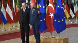 أردوغان في بروكسل يوم 9 مارس 2020