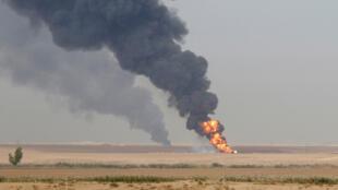 بئري نفط في العراق (أرشيف)