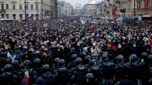 مظاهرات داعمة لأليكسي نافالنتي في سان بطرسبورغ