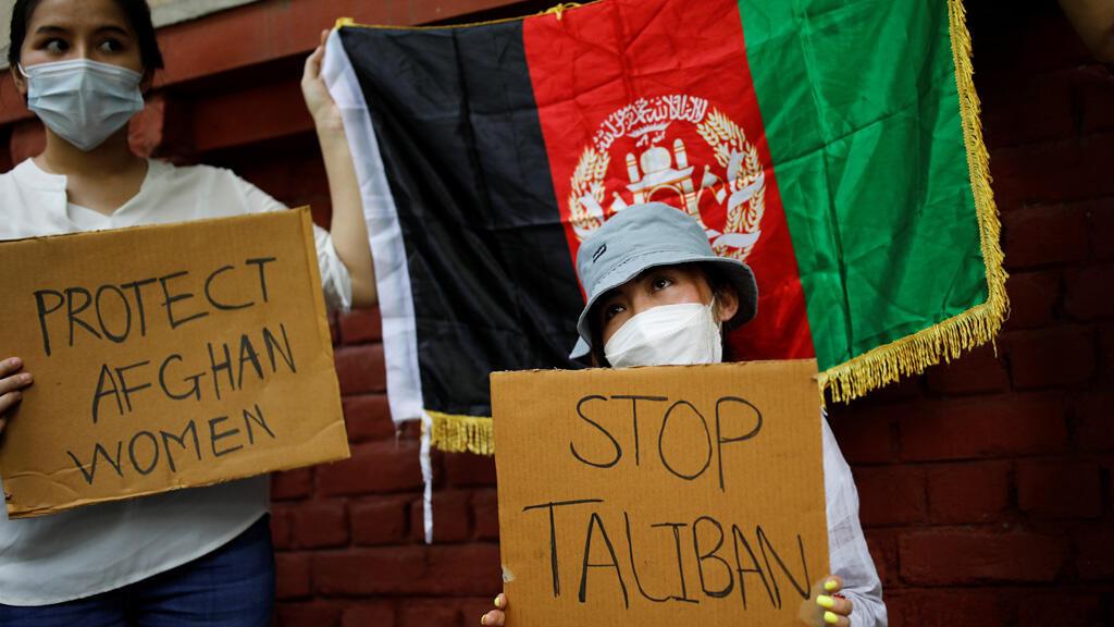 مظاهرة مناهضة لطالبان في نيودلهي الهندية