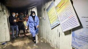 خلال الحريق بمستشفى ابن الخطيب ببغداد