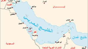 خريطة الخليج العربي