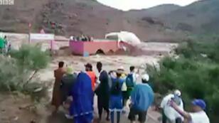 الفيضانات في قرية تيزرت جنوب المغرب يوم 28 أغسطس 2019