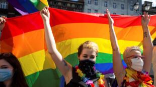 مظاهرة للدفاع عن حقوق المثليين في مدينة كاتوفيتسه البولندية